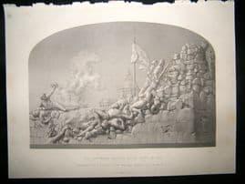 Statues/Sculpture 1865 Steel Engraving. Cashmere Bastien, Delhi, India