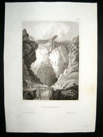Sweden C1840 Antique Print. Falun Mine