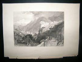 Switzerland 1838 Antique Print. Roveredo