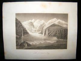 Switzerland C1810 Antique Print. Lake of Kendel Steig
