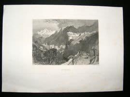 Switzerland C1840 Antique Print. Roverdo