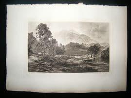 T & R Annan after Horatio Macculloch 1885 Photogravure. Loch Katrine, Scotland