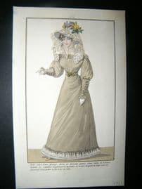 Townsend's Quarterly C1825 Hand Col Regency Fashion Print 44