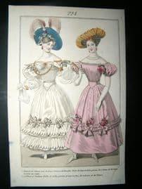Townsend's Quarterly C1828 Hand Col Fashion Print 224