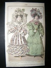 Townsend's Quarterly C1828 Hand Col Fashion Print 252