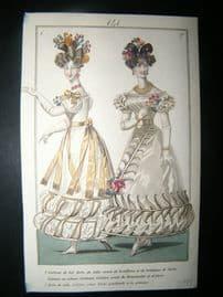 Townsend's Quarterly C1828 Hand Col Regency Fashion Print 141
