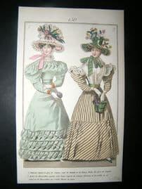Townsend's Quarterly C1828 Hand Col Regency Fashion Print 150