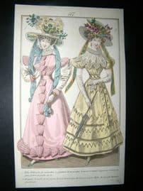 Townsend's Quarterly C1828 Hand Col Regency Fashion Print 167