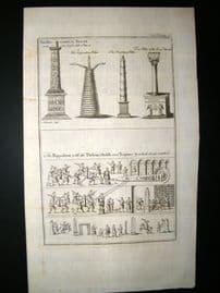 Turkey C1750 Antique Print. Pillars of Hippodrome & Thebean Obelisk