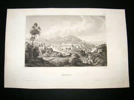 USA C1840 Antique Print. Carlsbad, California