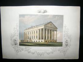 USA C1850 Hand Col Print. Capitol of Virginia, Richmond