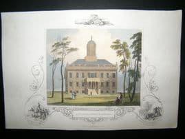 USA C1850 Hand Col Print. City Hall, Augusta, Georgia
