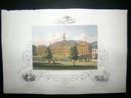 USA C1850 Hand Col Print. Dartmouth College, New Hampshire