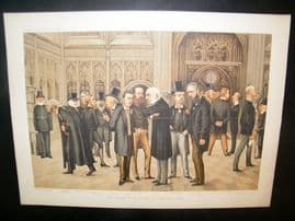 Vanity Fair Double Print 1886 The Lobby of the House of Commons