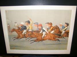Vanity Fair Double Print 1888 The Winning Post. Horse Racing