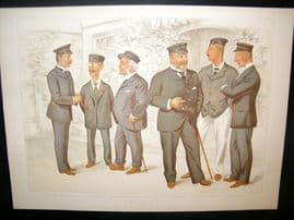 Vanity Fair Double Print 1894 At Cowes, Yachting