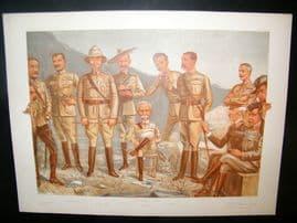 Vanity Fair Double Print 1900 A General Group, Military Boer War