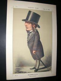 Vanity Fair Print 1869 A. S. Ayrton, Ape Caricature