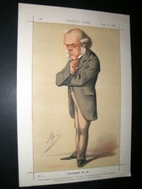 Vanity Fair Print 1869 Henry Austin Bruce, Ape Lithograph