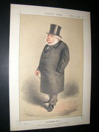 Vanity Fair Print 1869 John Bright, Political