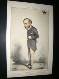 Vanity Fair Print 1869 Lord Carnarvon