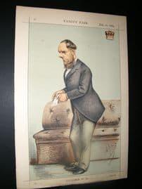 Vanity Fair Print 1869 Lord Kimberley, Ape Lithograph