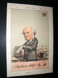 Vanity Fair Print 1869 Lord Westbury, Ape Cartoon