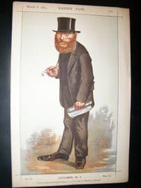 Vanity Fair Print 1869 William E. Forster, Caricature