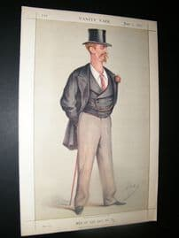 Vanity Fair Print 1871 Capt. E. M. Shaw