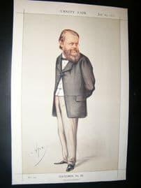 Vanity Fair Print 1871 Edward Miall, Newspaperman