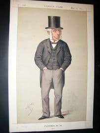 Vanity Fair Print 1871 Michael Thomas Bass, Politics