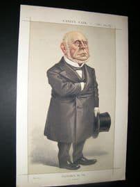 Vanity Fair Print 1872 Charles F. Adams, American