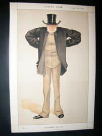 Vanity Fair Print 1872 Joseph Cowen, Cartoon