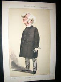 Vanity Fair Print 1872 Samuel Morley, Cartoon