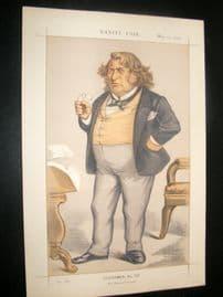 Vanity Fair Print 1872 Senator Charles Sumner, American