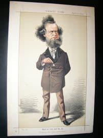 Vanity Fair Print 1872 William Hepworth Dixon