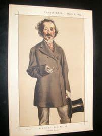 Vanity Fair Print 1873 Mayne Reid, Literary - Irish