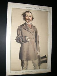 Vanity Fair Print 1873 T. Mayne-Reid, Literary