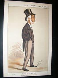 Vanity Fair Print 1873 Thomas Emerson Headlam