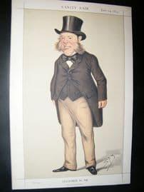 Vanity Fair Print 1873 Watkin Williams-Wynn, Businessman