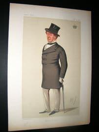 Vanity Fair Print 1874 Earl of Bedford, Turf