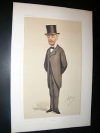 Vanity Fair Print 1874 Stephen Cave, Ape Lithograph