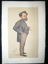 Vanity Fair Print: 1875 Edward James Reed