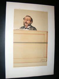 Vanity Fair Print 1875 Ira D. Sankey, Music