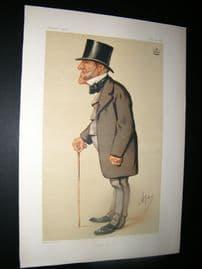 Vanity Fair Print 1875 Lord Hammond, Ape Lithograph