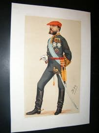 Vanity Fair Print 1876 Carlos VII, Royal