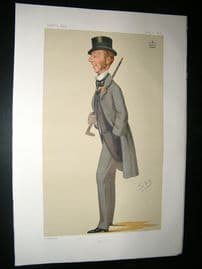 Vanity Fair Print: 1876 Lord Alington, Sport. Spy Litho