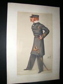 Vanity Fair Print 1877 Allen Young, Military