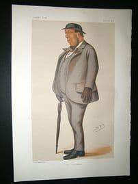 Vanity Fair Print: 1877 Mr Steel, Wagerer, Spy Cartoon