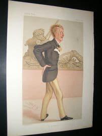 Vanity Fair Print 1877 Ronald C. S. Leveson-Gower, Artist